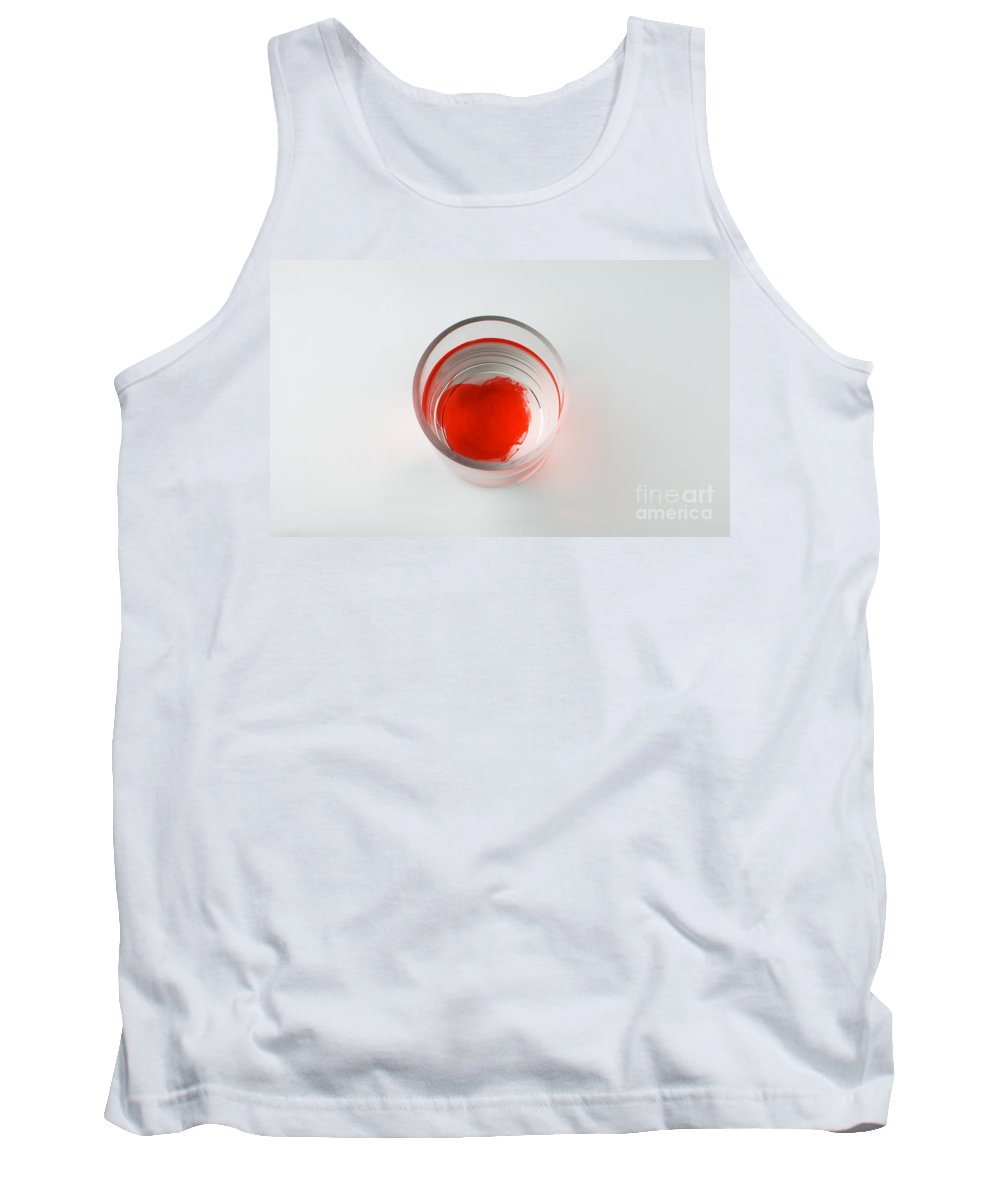 Red Tank Top featuring the photograph Dye In Water, 3 Of 4 by Photo Researchers, Inc.