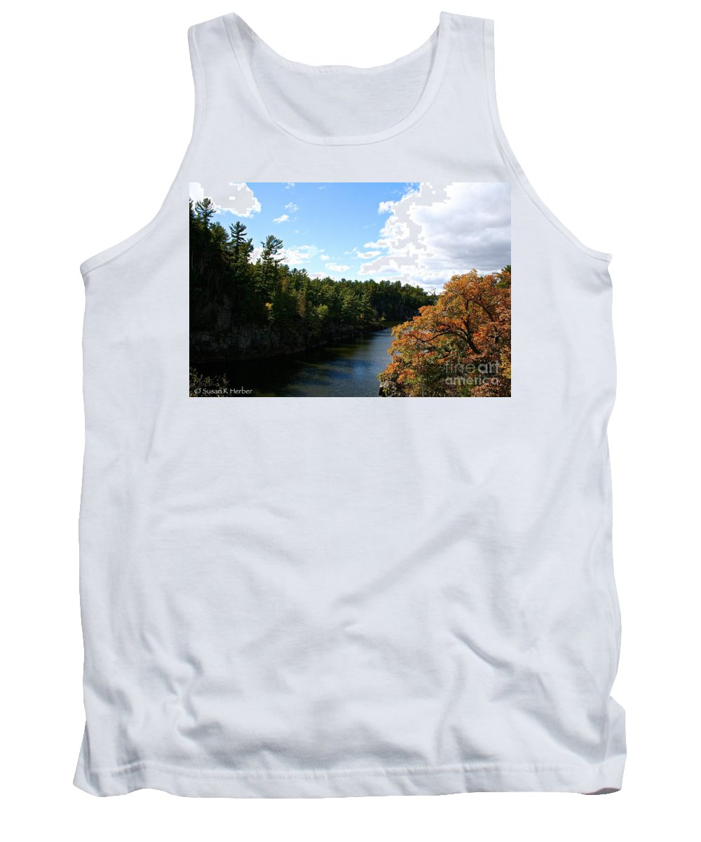 Landscape Tank Top featuring the photograph Early Autumn Colors by Susan Herber