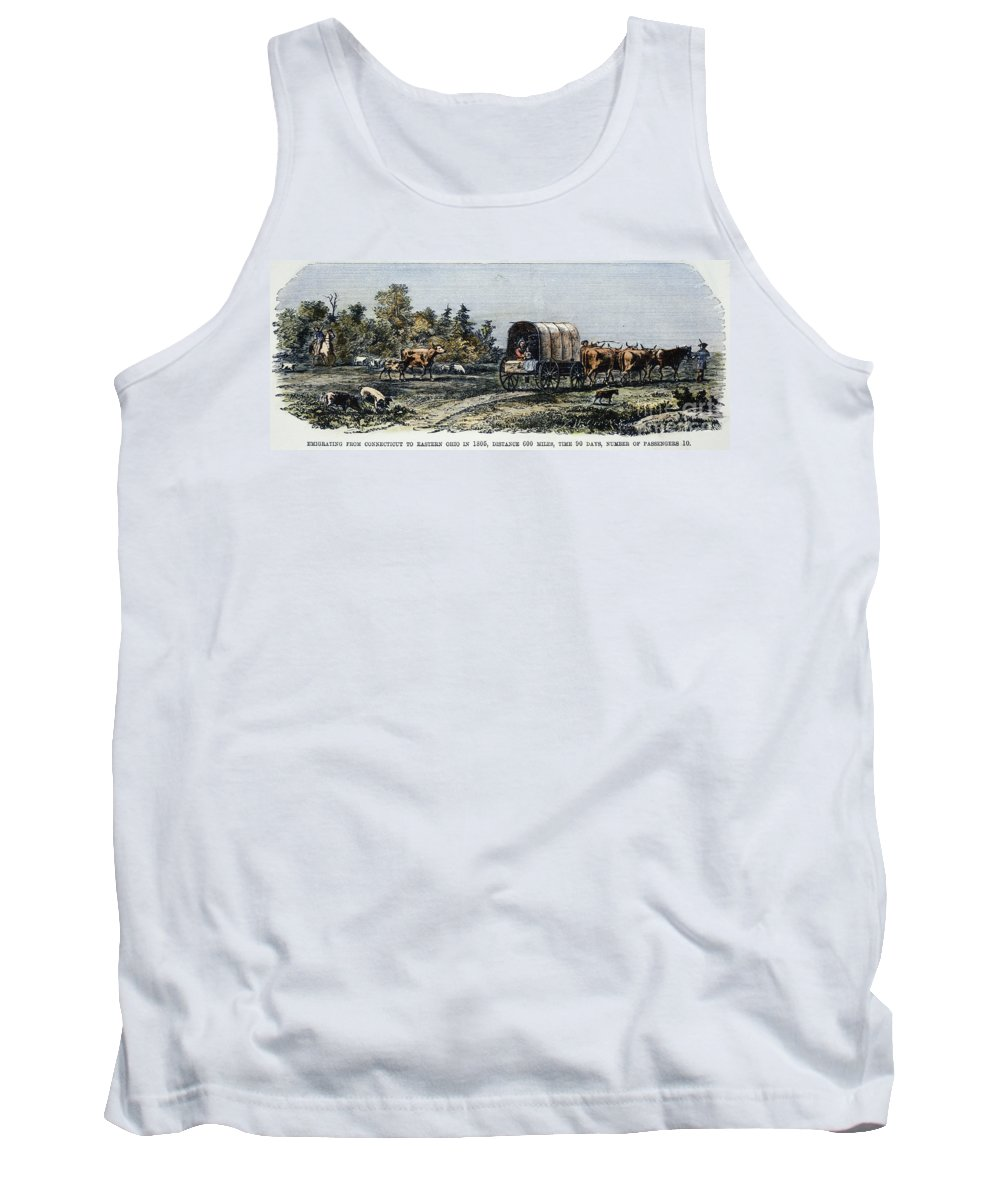 1805 Tank Top featuring the photograph Emigrants To Ohio, 1805 by Granger