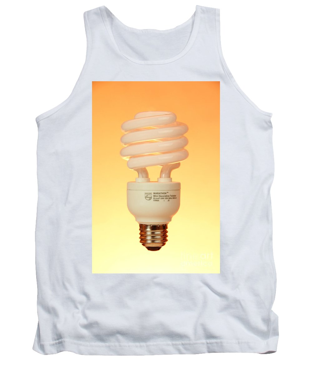 Object Tank Top featuring the photograph Energy Saving Light Bulb by Photo Researchers, Inc.