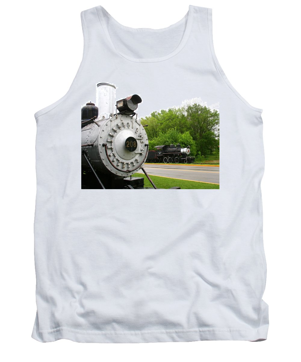 Engine Tank Top featuring the photograph Engine 208 by Laurel Talabere