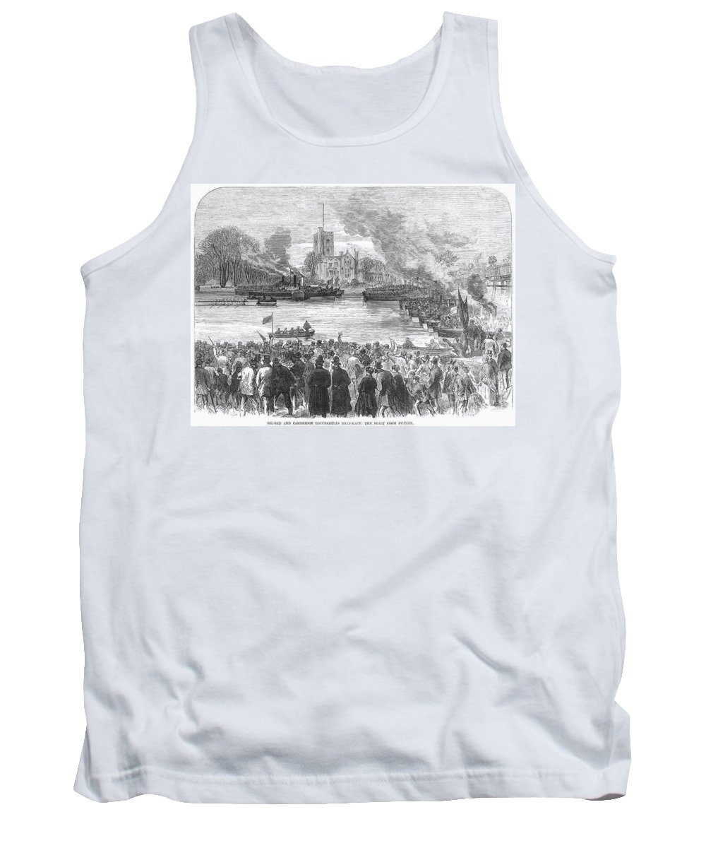 1869 Tank Top featuring the photograph England: Boat Race, 1869 by Granger