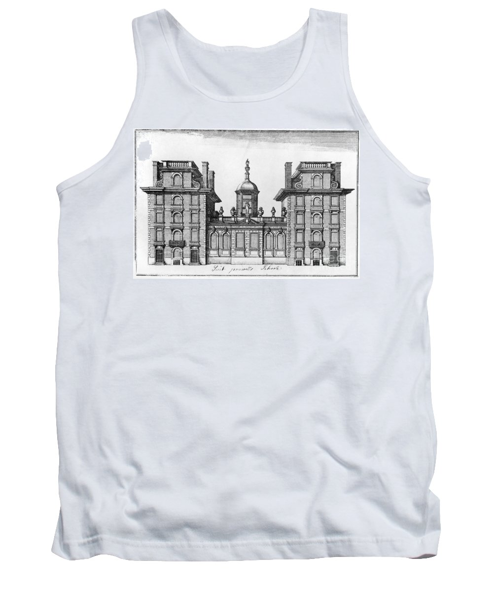 Architecture Tank Top featuring the photograph England: St. Pauls School by Granger