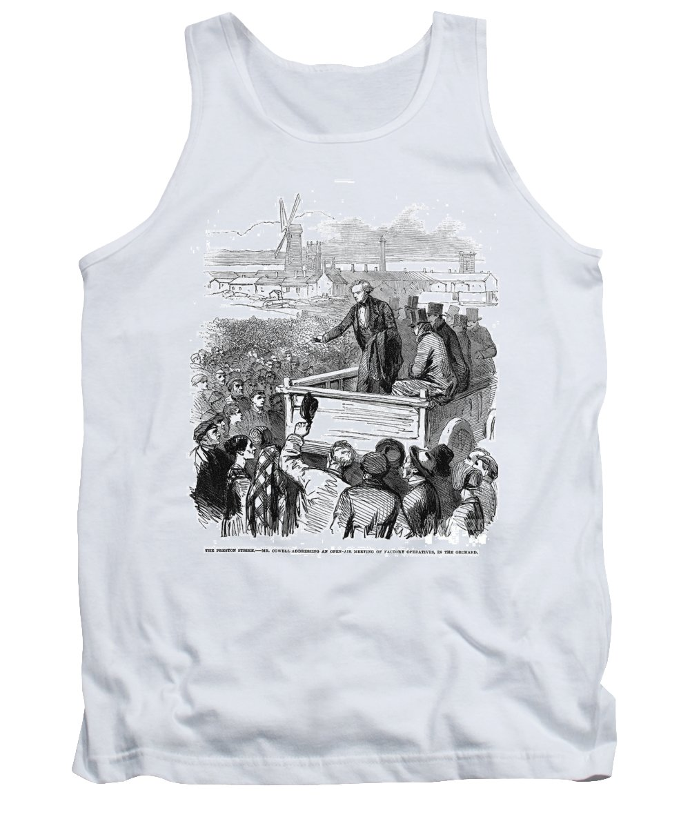 1853 Tank Top featuring the photograph England: Textile Strike by Granger
