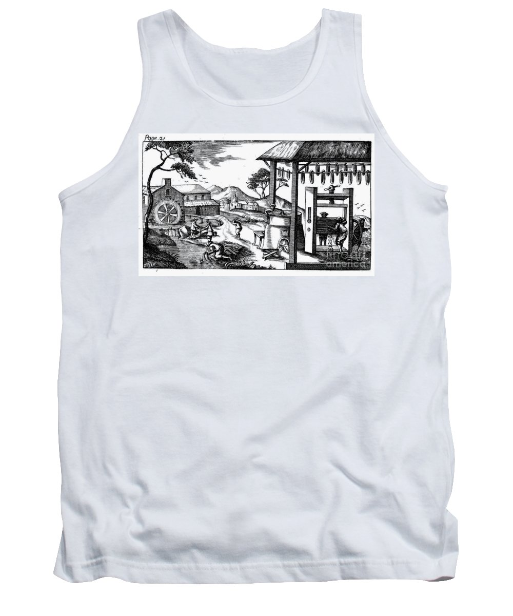 Agriculture Tank Top featuring the photograph England: Water Mill by Granger