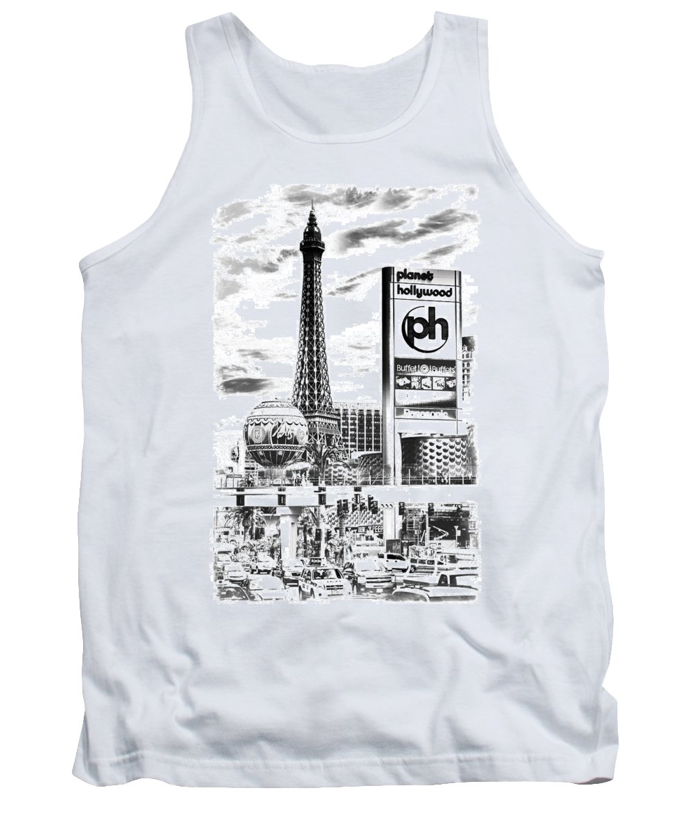 America Tank Top featuring the photograph Etched Vegas by Ricky Barnard
