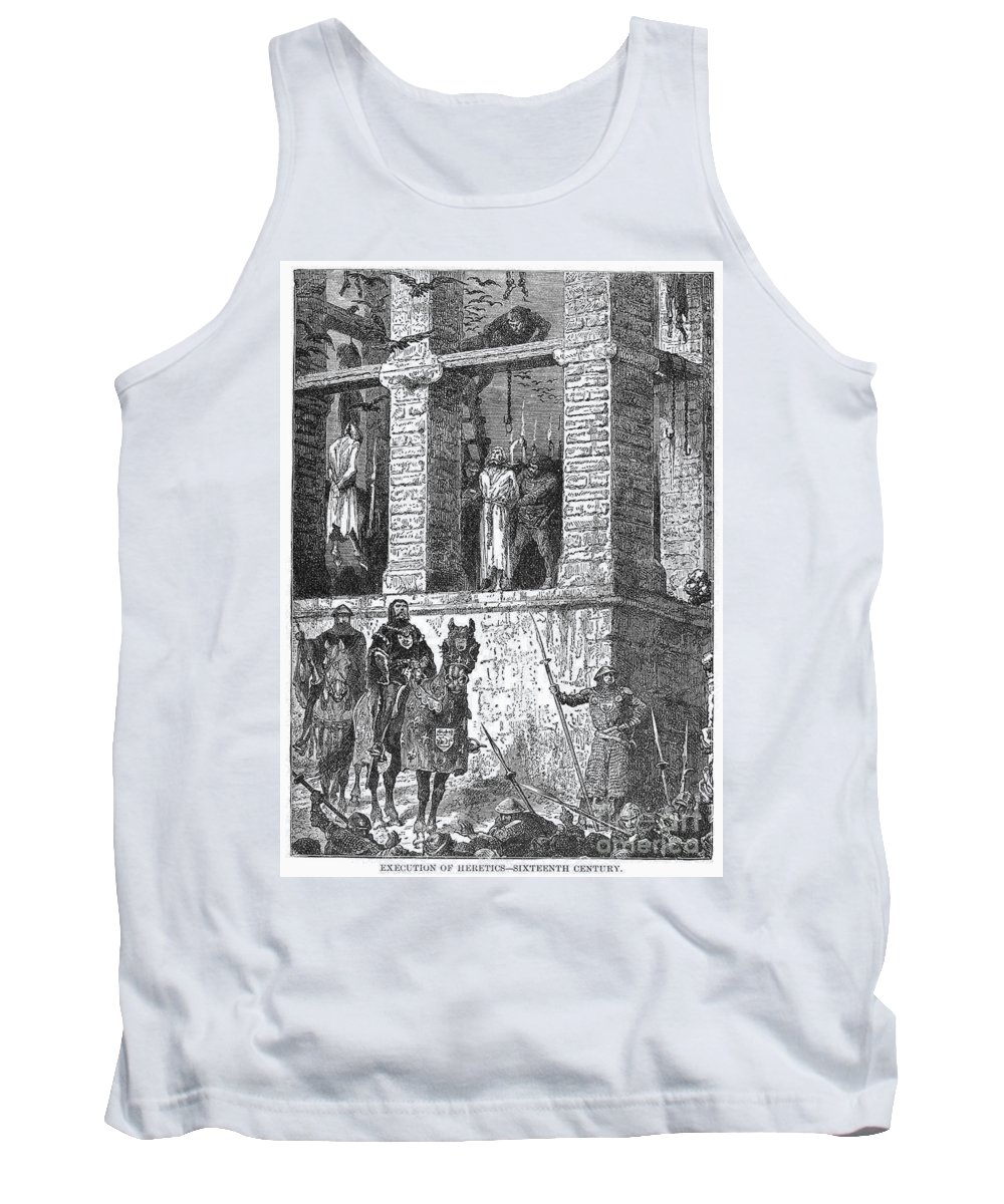 16th Century Tank Top featuring the photograph Execution Of Heretics by Granger
