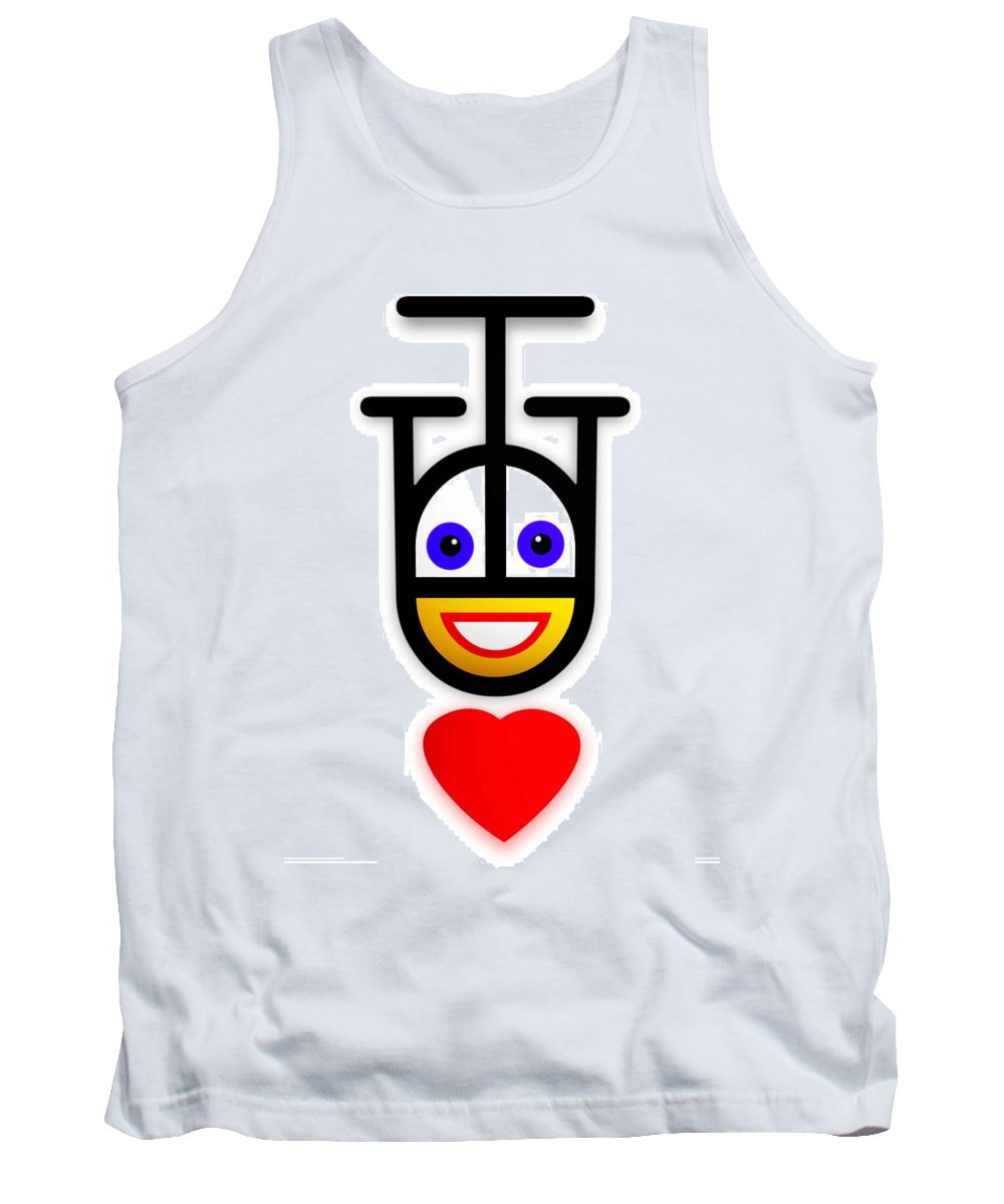Love Tank Top featuring the painting Falling In Love by Charles Stuart