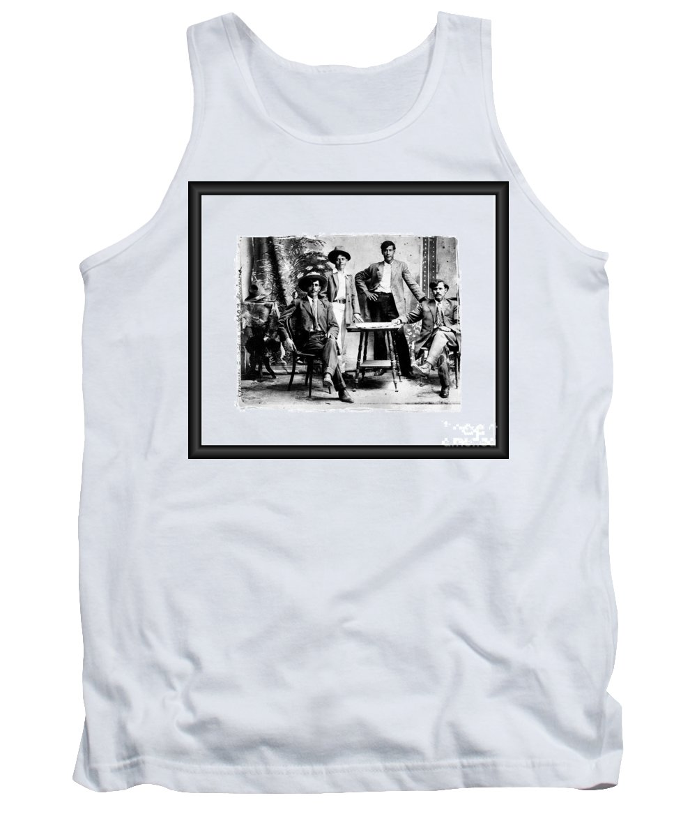 Original Photo Black White Contrast Tank Top featuring the photograph Familia by RJ Aguilar