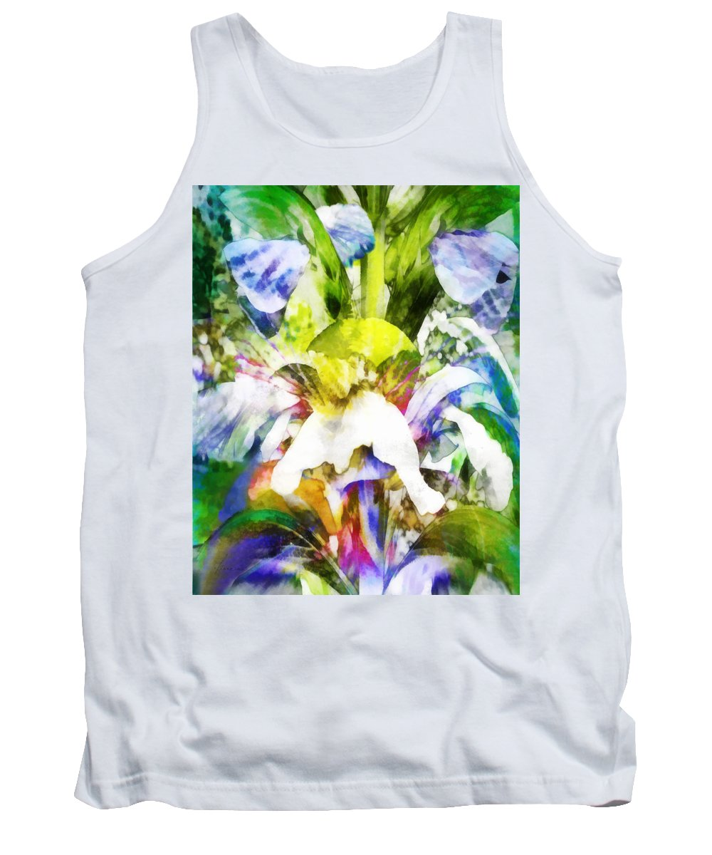 Flowers Tank Top featuring the digital art Fantasy Garden by Francesa Miller