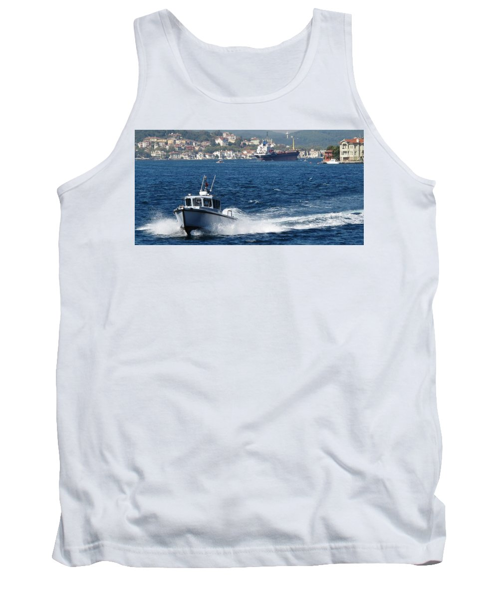 Bosphorous Tank Top featuring the photograph Fast In Turkey by Ian MacDonald