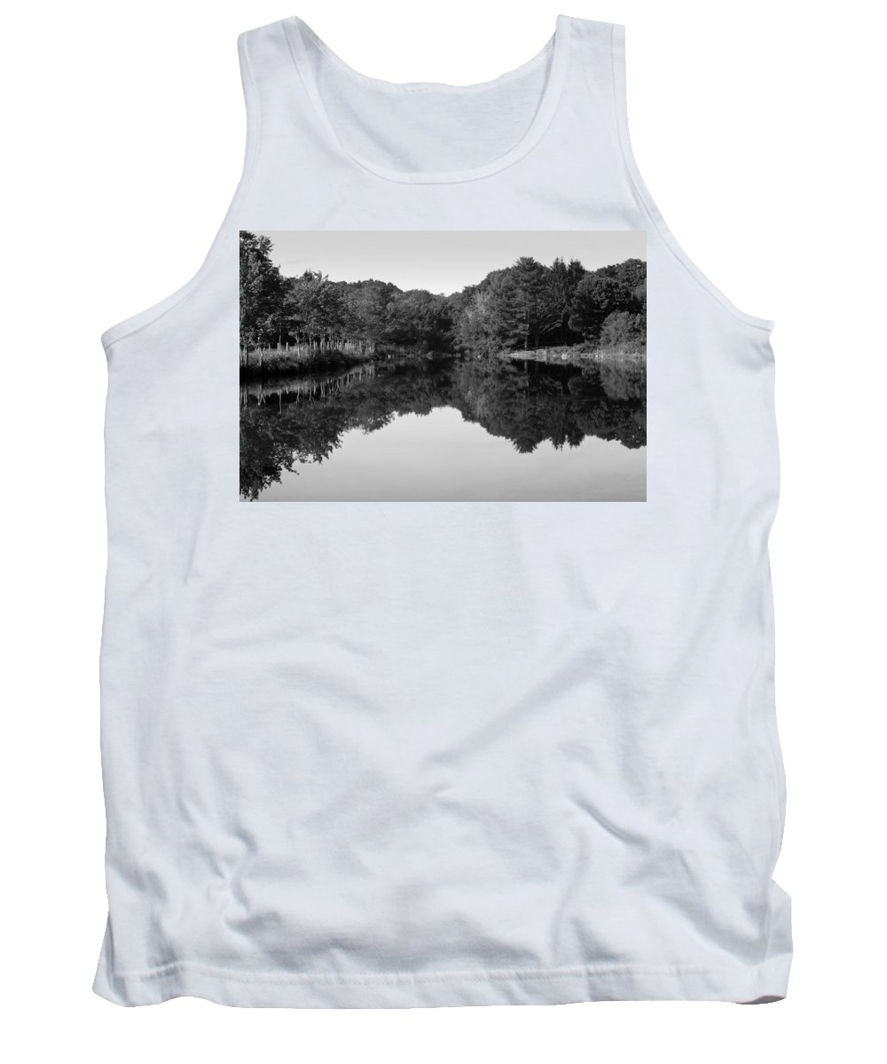 Reflection Tank Top featuring the photograph Fenns Pond by Karol Livote