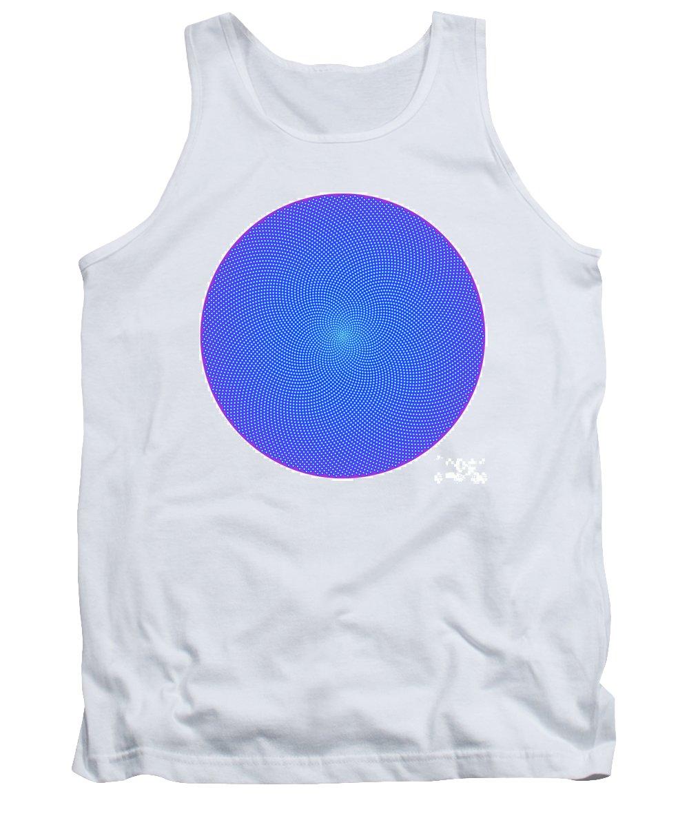 Fibonacci Tank Top featuring the digital art Fibonacci Figure With White Elements On Blue by Marcus West