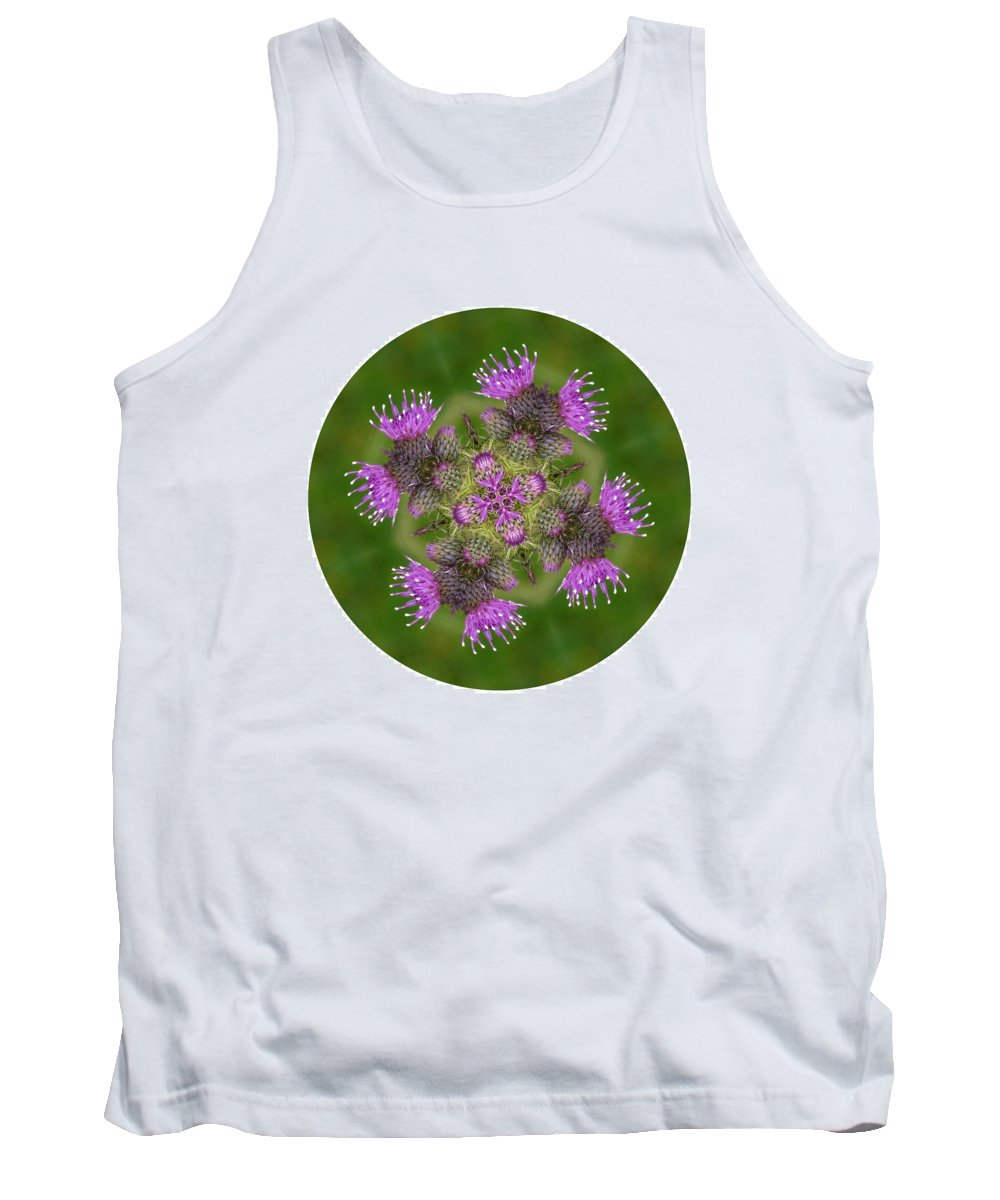 Scottish Thistle Tank Top featuring the photograph Flower Of Scotland by Lynn Bolt