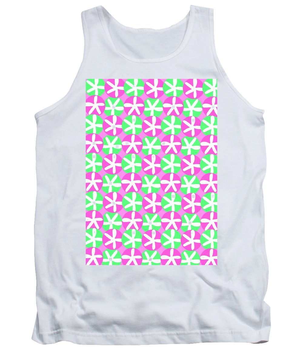 Flowers And Spots (digital) By Louisa Knight (contemporary Artist) Tank Top featuring the digital art Flowers And Spots by Louisa Knight