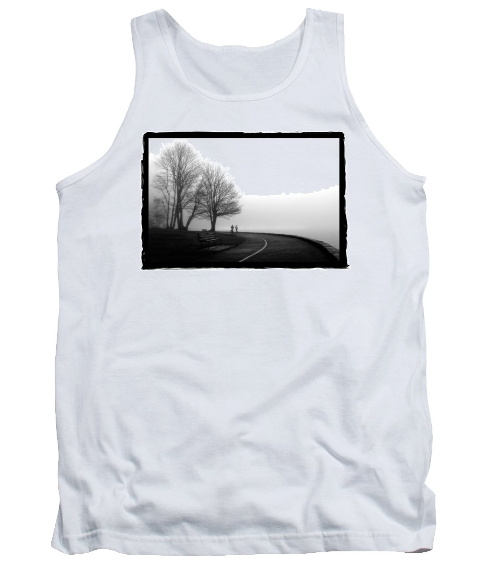 Art Tank Top featuring the pyrography Foggy Day H-2 by Mauro Celotti