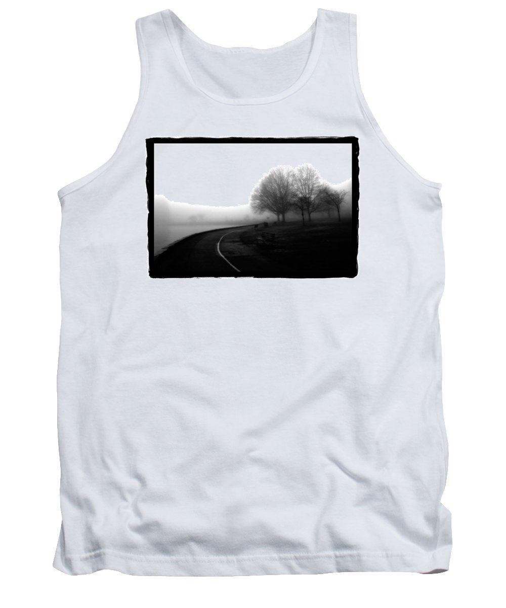 Art Tank Top featuring the pyrography Foggy Day H-3 by Mauro Celotti