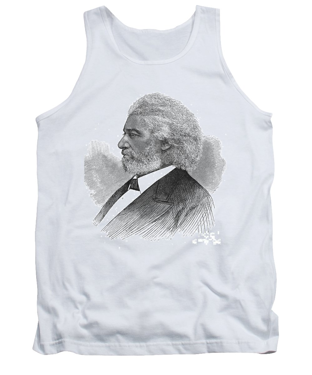 1877 Tank Top featuring the photograph Frederick Douglass (c1817-1895). American Abolitionist. Wood Engraving, American, 1877 by Granger