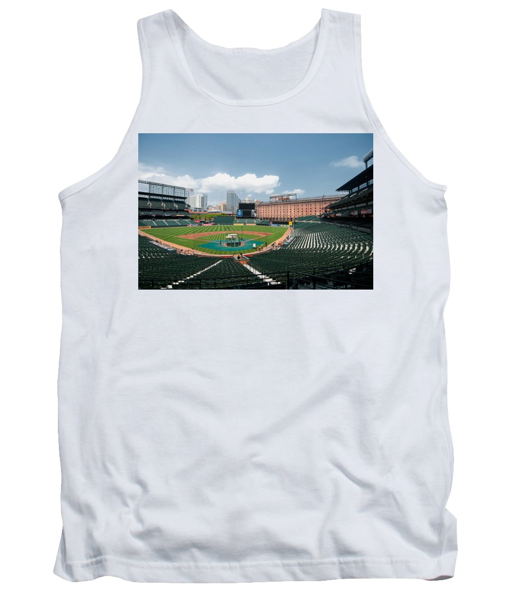 baltimore Orioles Tank Top featuring the From The Press Box by Paul Mangold