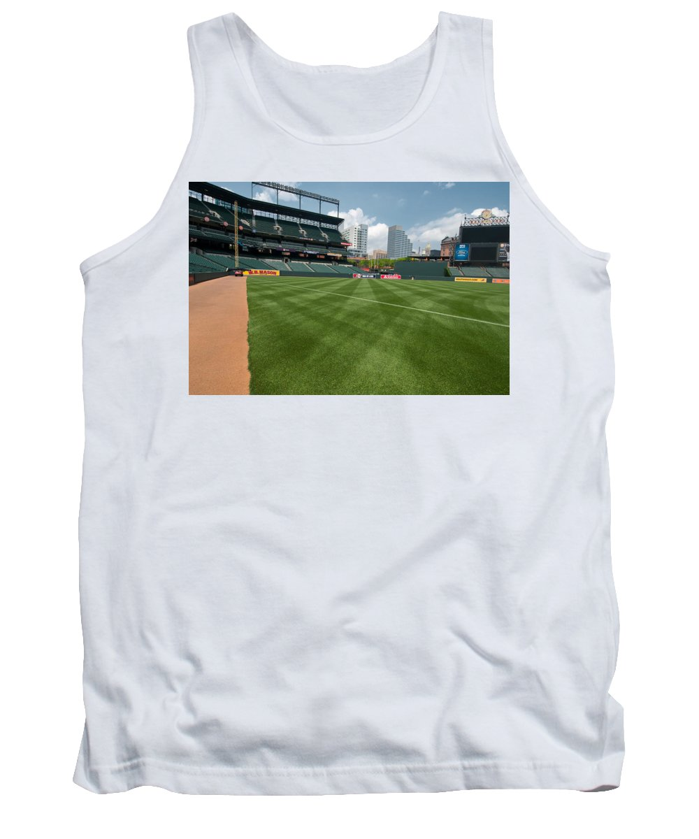 oriole Park Tank Top featuring the From The Visitors Dugout by Paul Mangold