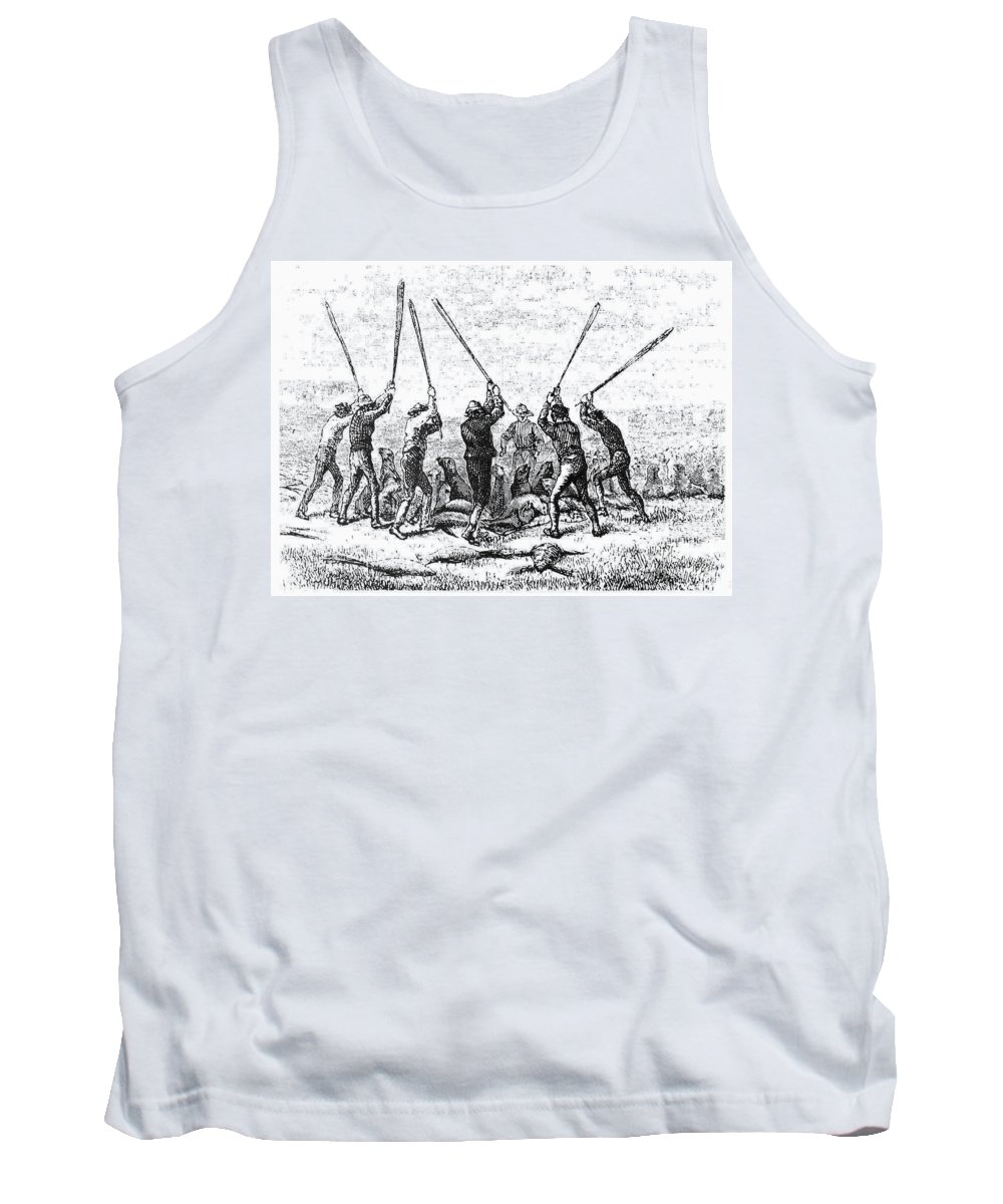 19th Century Tank Top featuring the photograph Fur Trade: Baby Seals by Granger