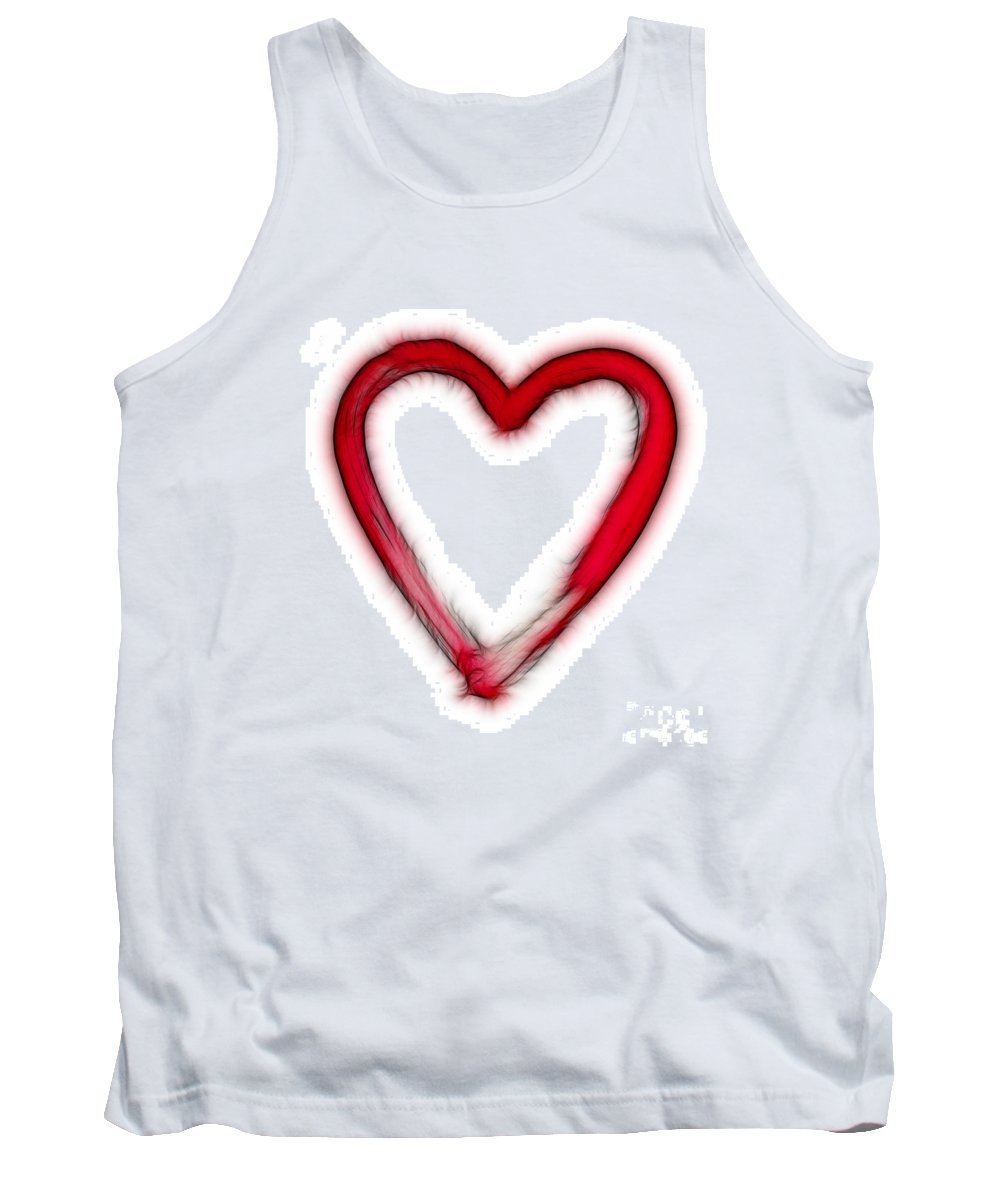 Love Tank Top featuring the digital art Furry Heart - Symbol Of Love by Michal Boubin