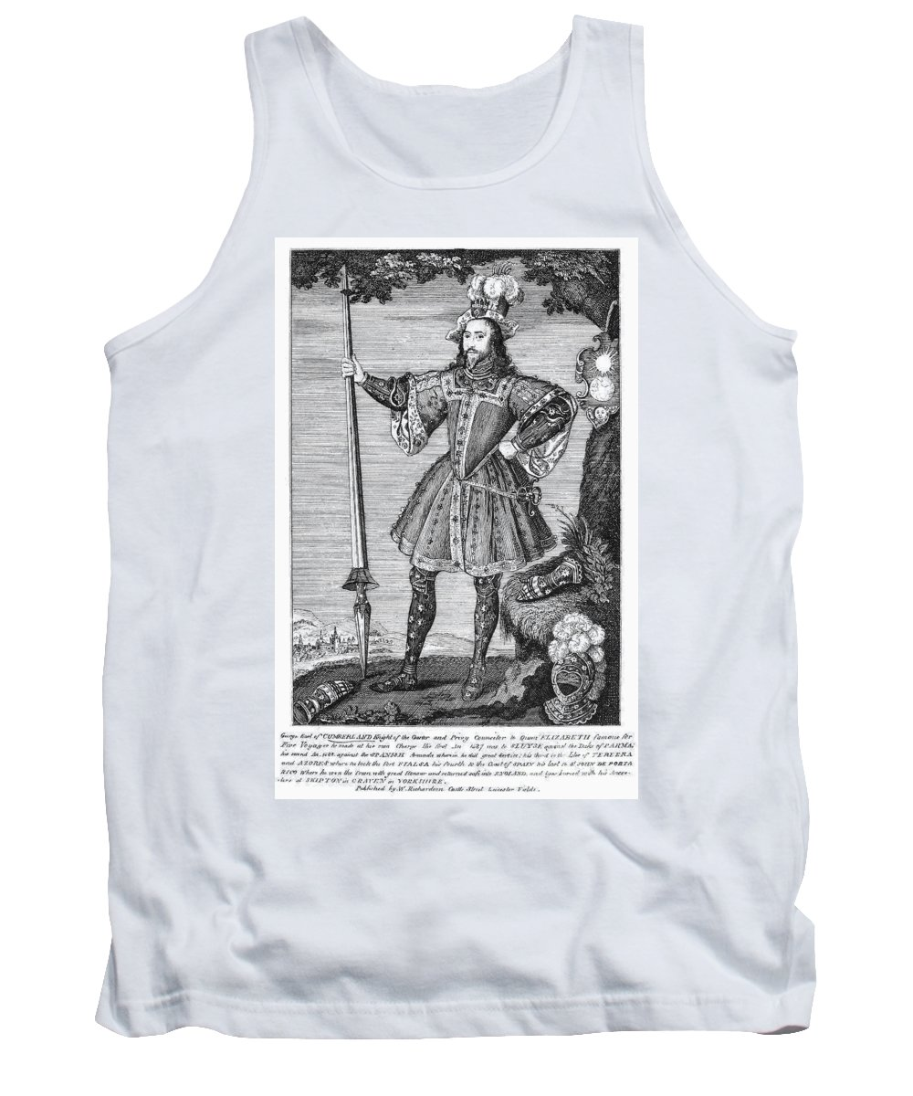 16th Century Tank Top featuring the photograph George Cumberland (1558-1605). George De Clifford Cumberland. 3rd Earl Of Cumberland. English Naval Commander And Courtier. Line Engraving, English, Early 19th Century by Granger