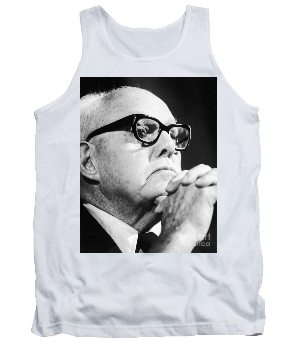 1975 Tank Top featuring the photograph George Meany (1894-1980) by Granger