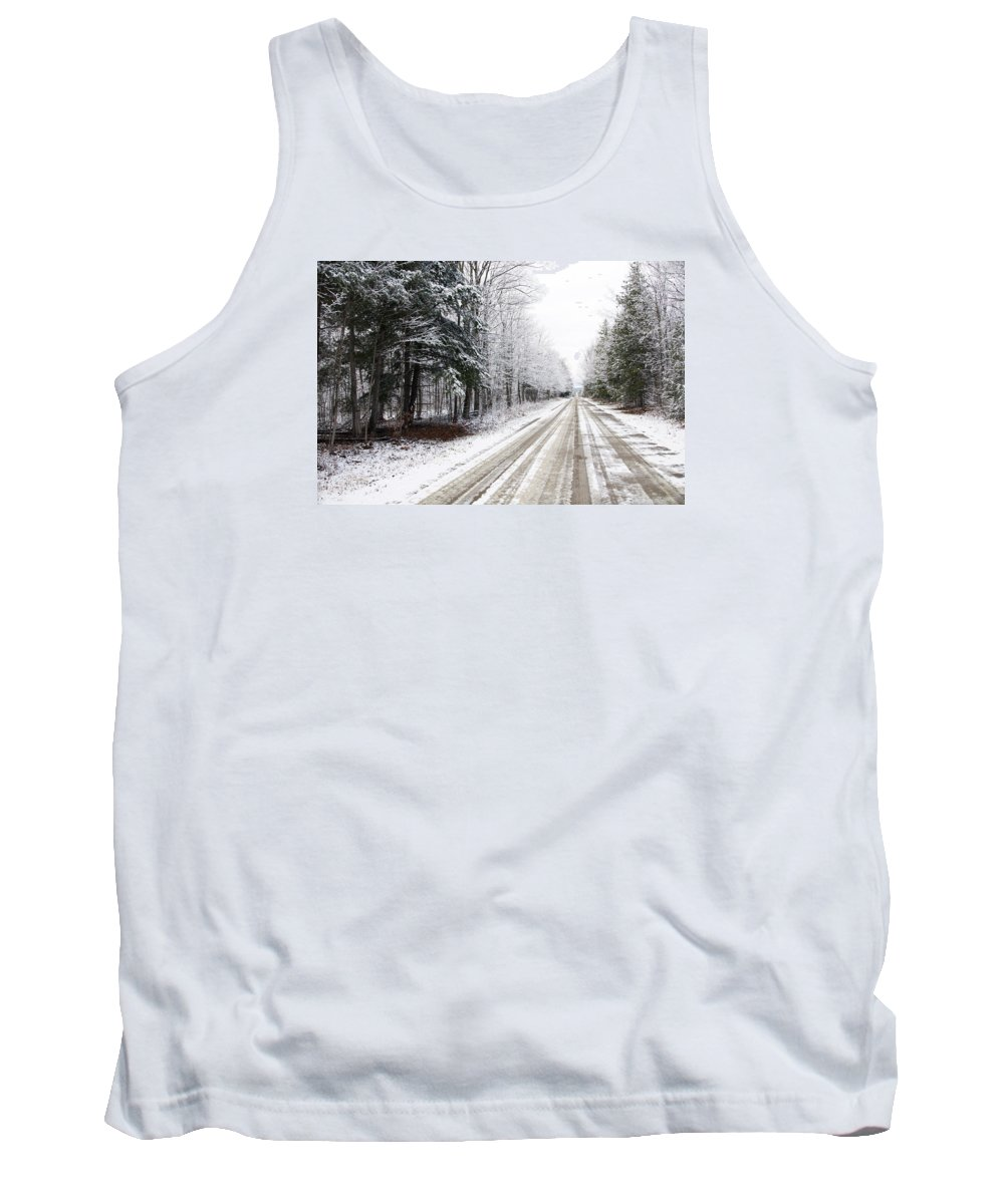 Road Tank Top featuring the photograph Go The Distance by Elaine Mikkelstrup
