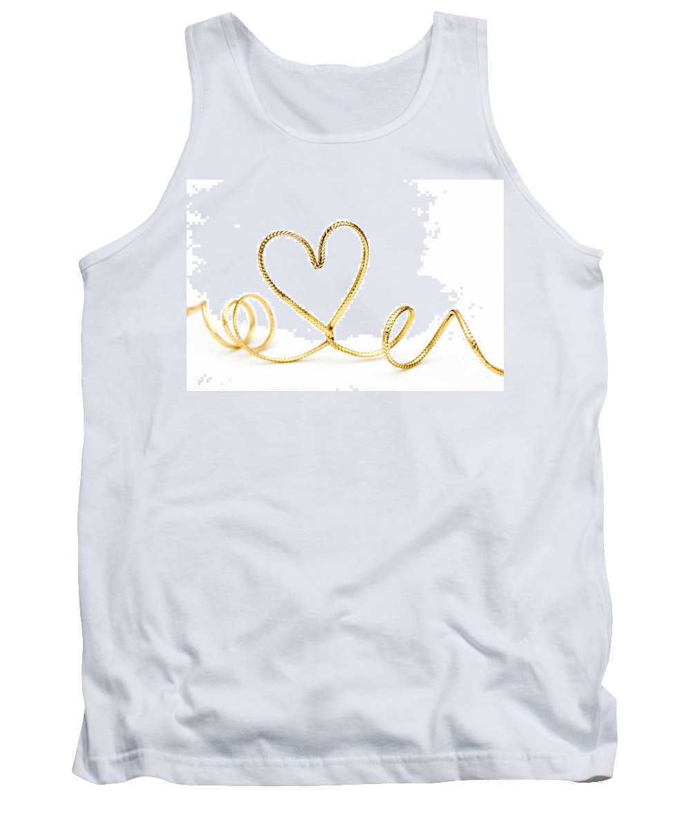 Heart Tank Top featuring the photograph Golden Heart by Kati Finell