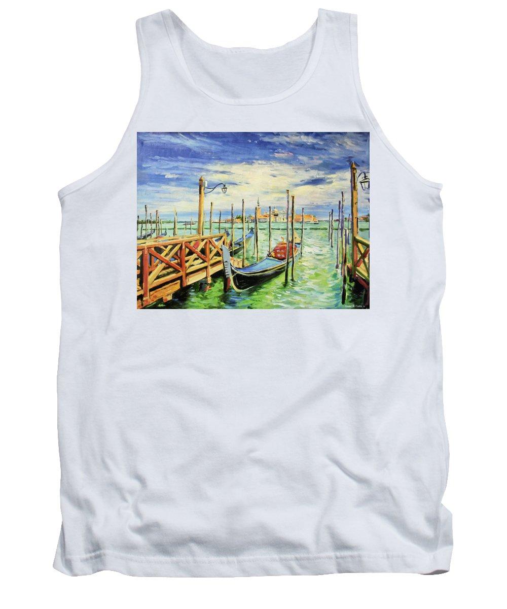Venice (italian: Venezia Tank Top featuring the painting Gondolla Venice by Conor McGuire