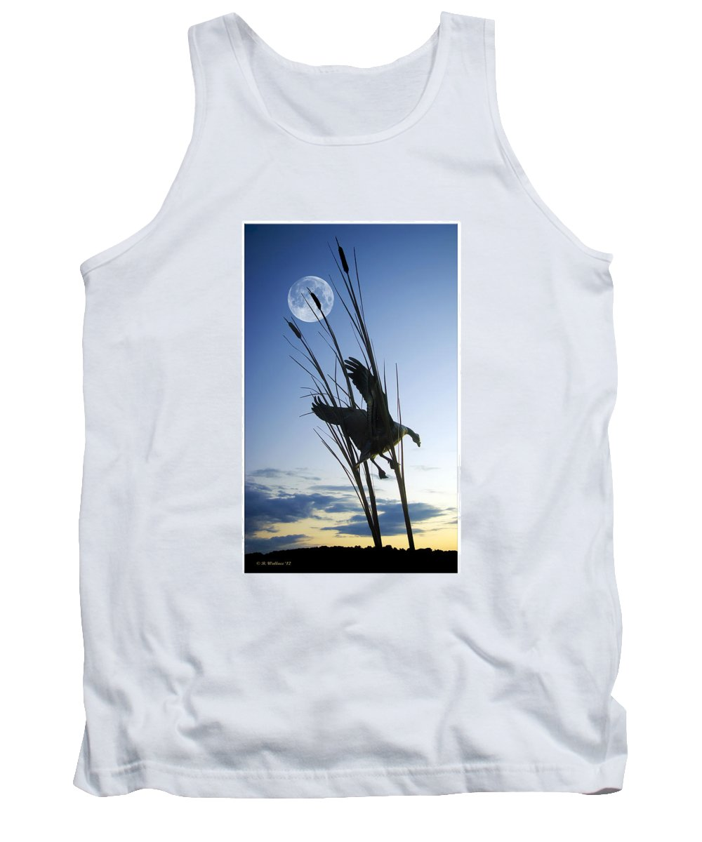 2d Tank Top featuring the photograph Goose At Dusk by Brian Wallace