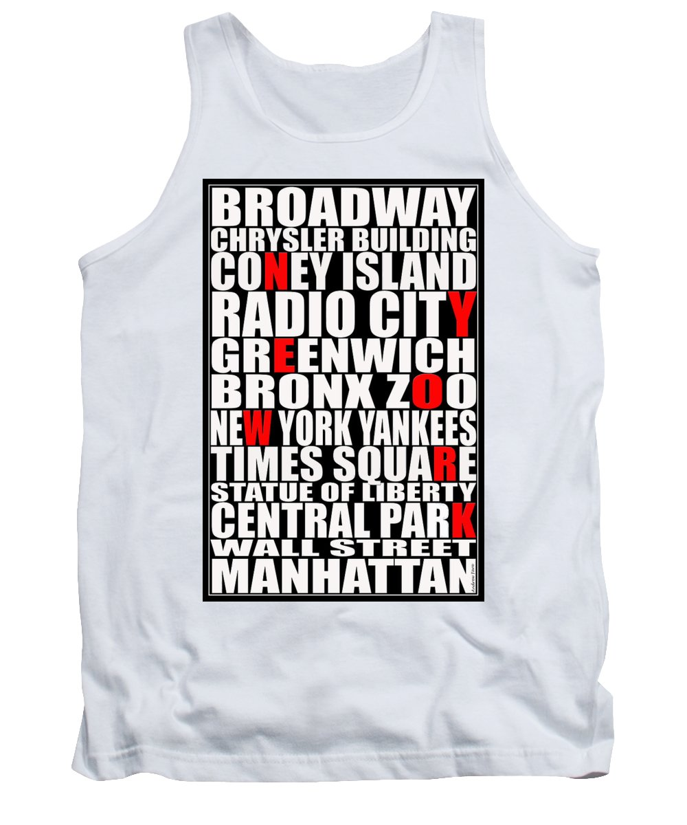New York City Tank Top featuring the photograph Graphic New York 3 by Andrew Fare