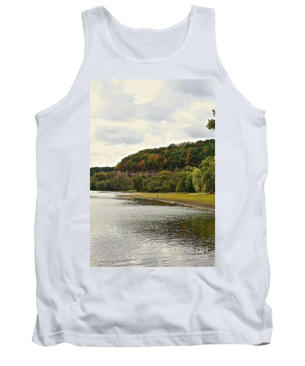 Landscape Tank Top featuring the photograph Grassy Beach by Susan Herber