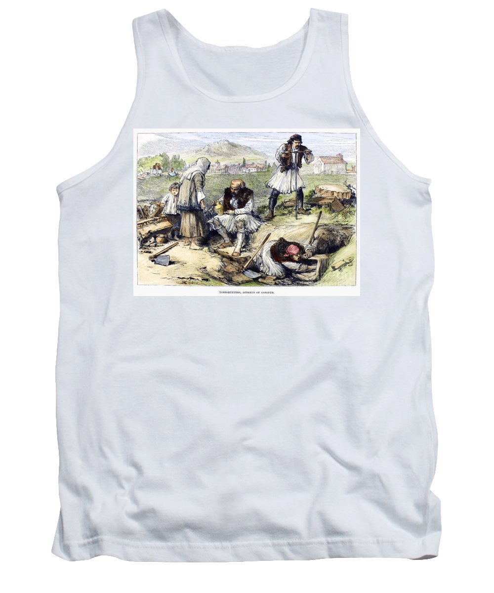 1877 Tank Top featuring the photograph Greece: Grave Robbers by Granger