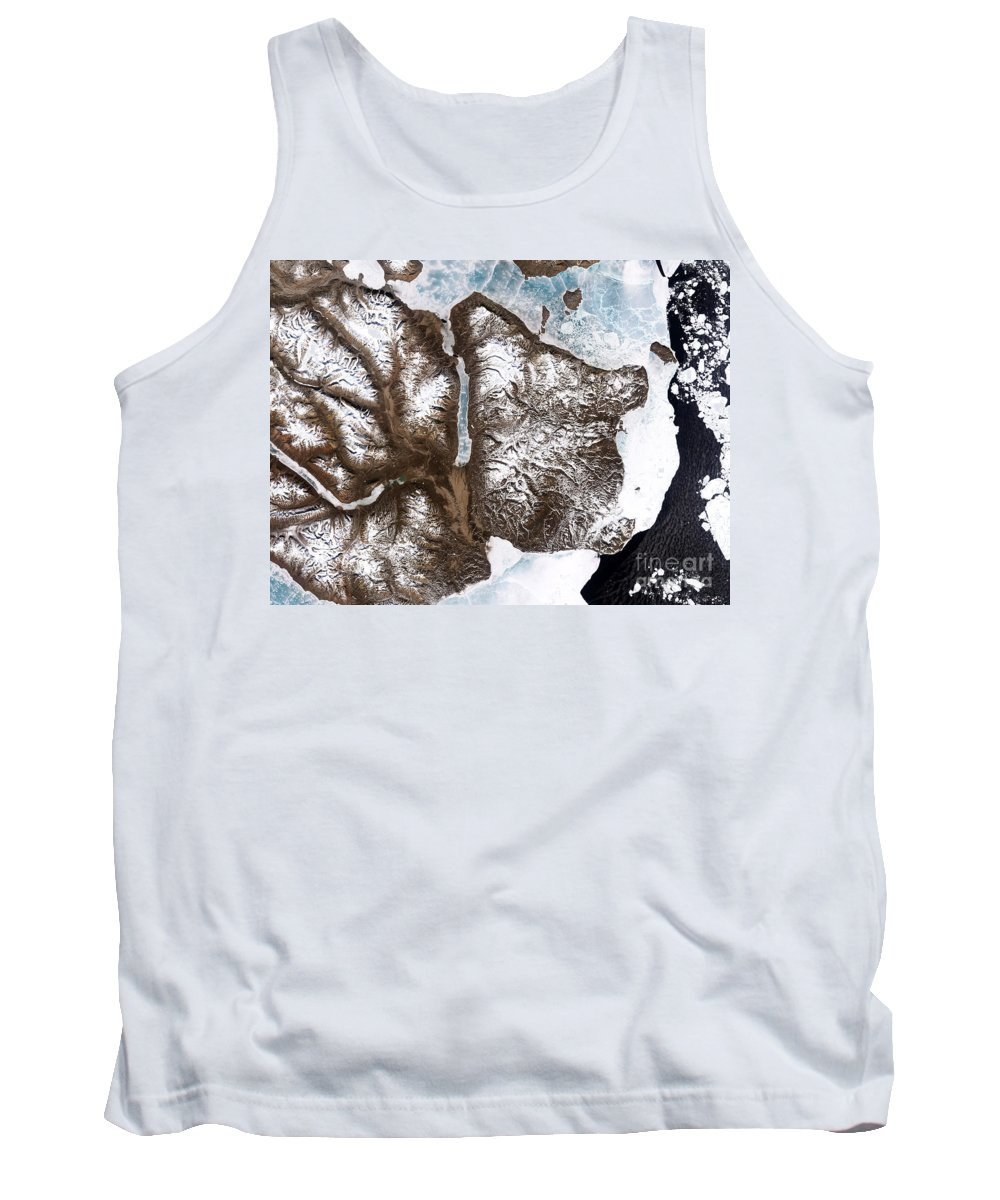 Greenland Tank Top featuring the photograph Greenland Sea Ice by Nasa