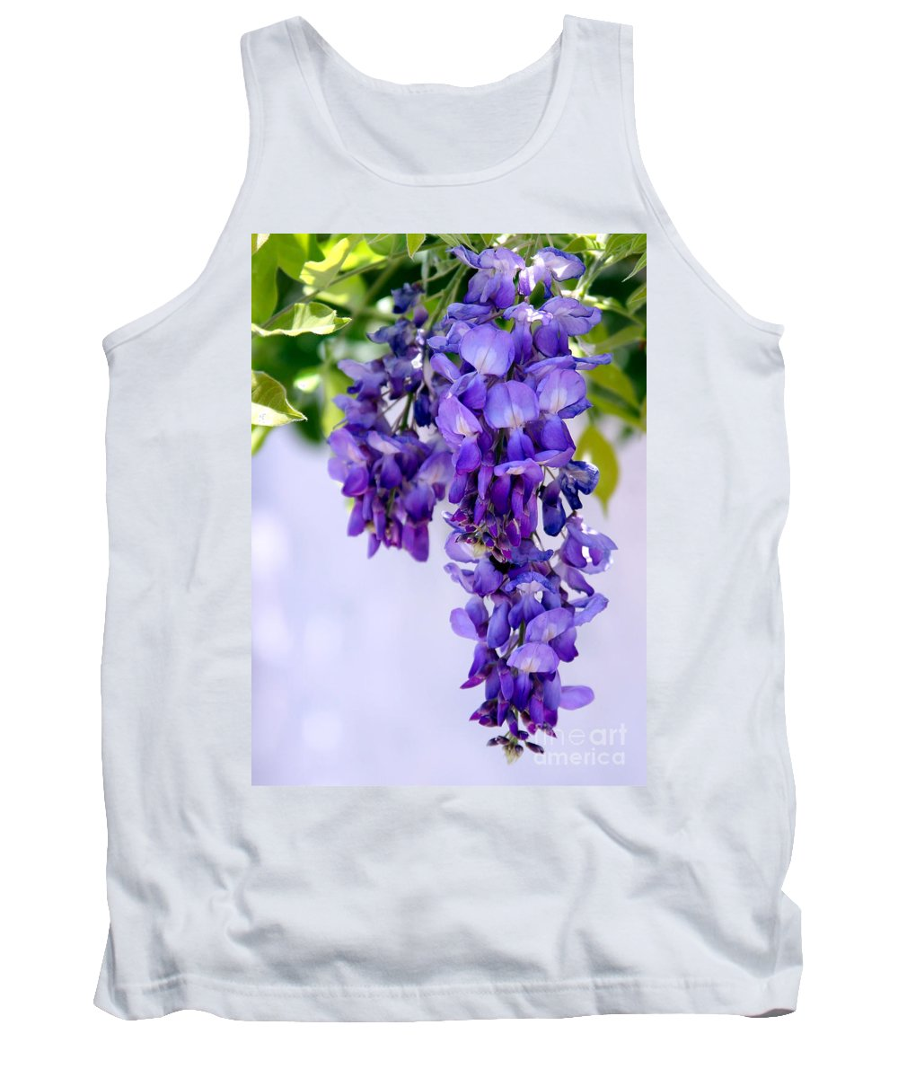 Art Tank Top featuring the photograph Hanging Purple Passion by Sabrina L Ryan