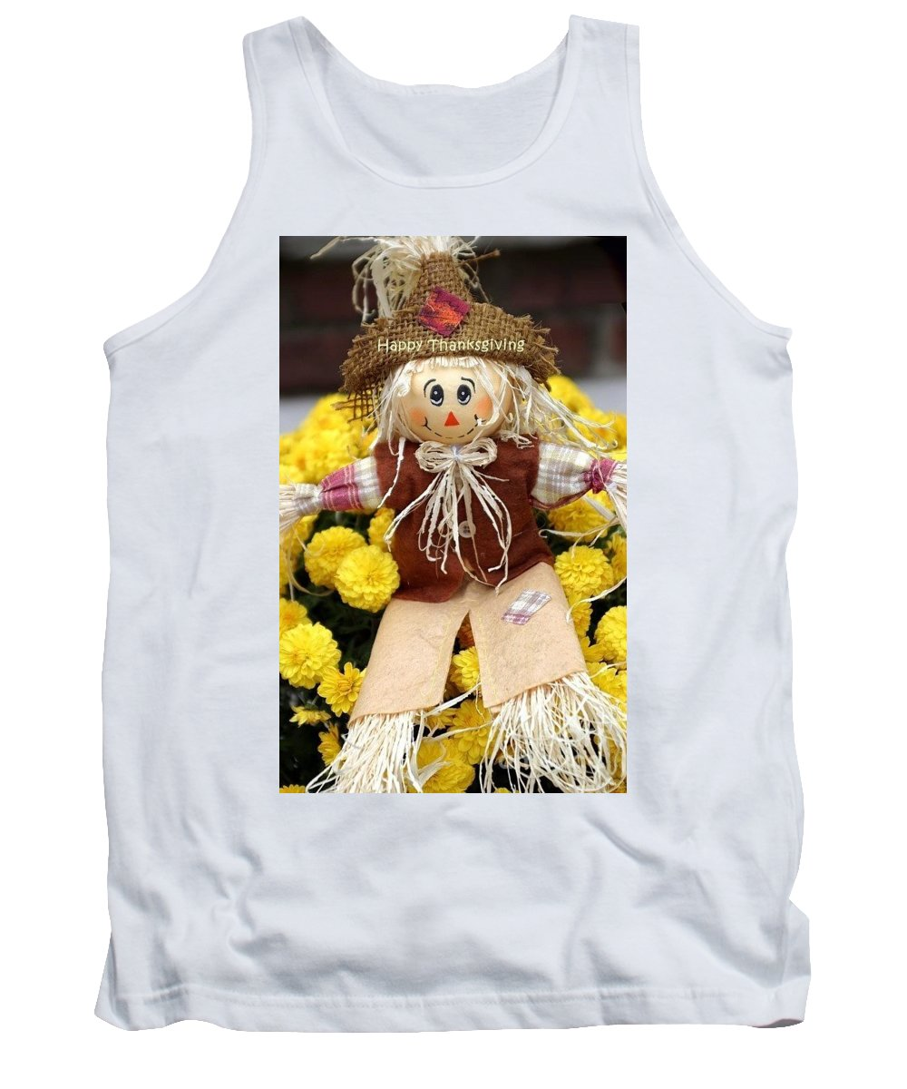 Autumn Tank Top featuring the photograph Happy Thanksgiving by Living Color Photography Lorraine Lynch