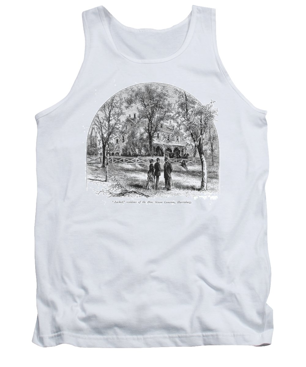 1876 Tank Top featuring the photograph Harrisburg: Lochiel, C1876 by Granger