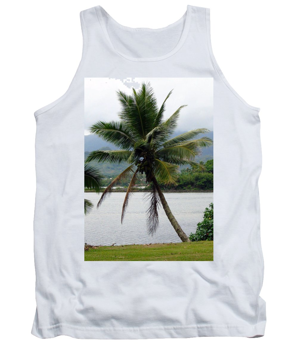 Tropical Palm Trees Tank Top featuring the photograph Hawaiian Palm by Athena Mckinzie