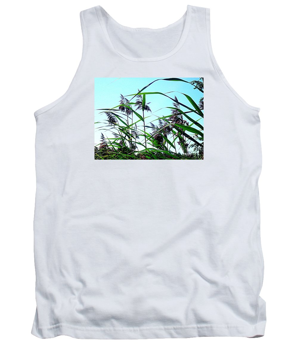 Blue Canvas Prints Tank Top featuring the photograph Hay In The Summer by Pauli Hyvonen