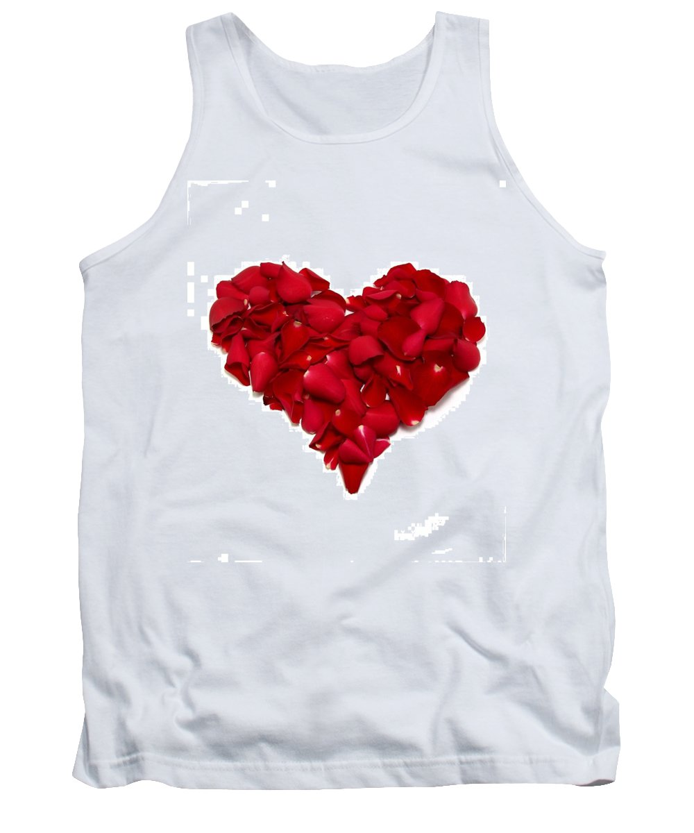 Heart Tank Top featuring the photograph Heart Of Petals by Andy Linden