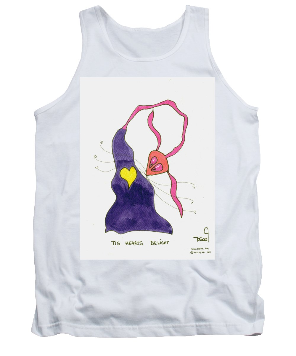 Heart Tank Top featuring the painting Heart's Delight by Tis Art