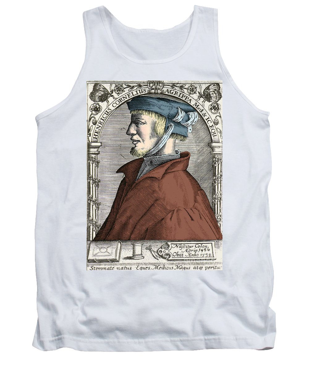 History Tank Top featuring the photograph Heinrich Cornelius Agrippa, German by Science Source