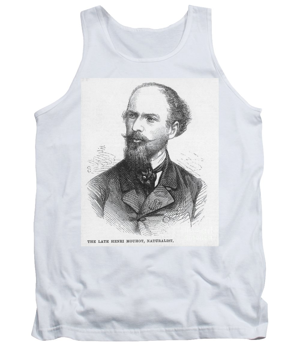 19th Century Tank Top featuring the photograph Henri Mouhot (1826-1861) by Granger
