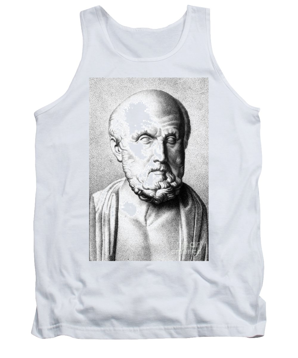 History Tank Top featuring the photograph Hippocrates, Greek Physician, Father by Science Source