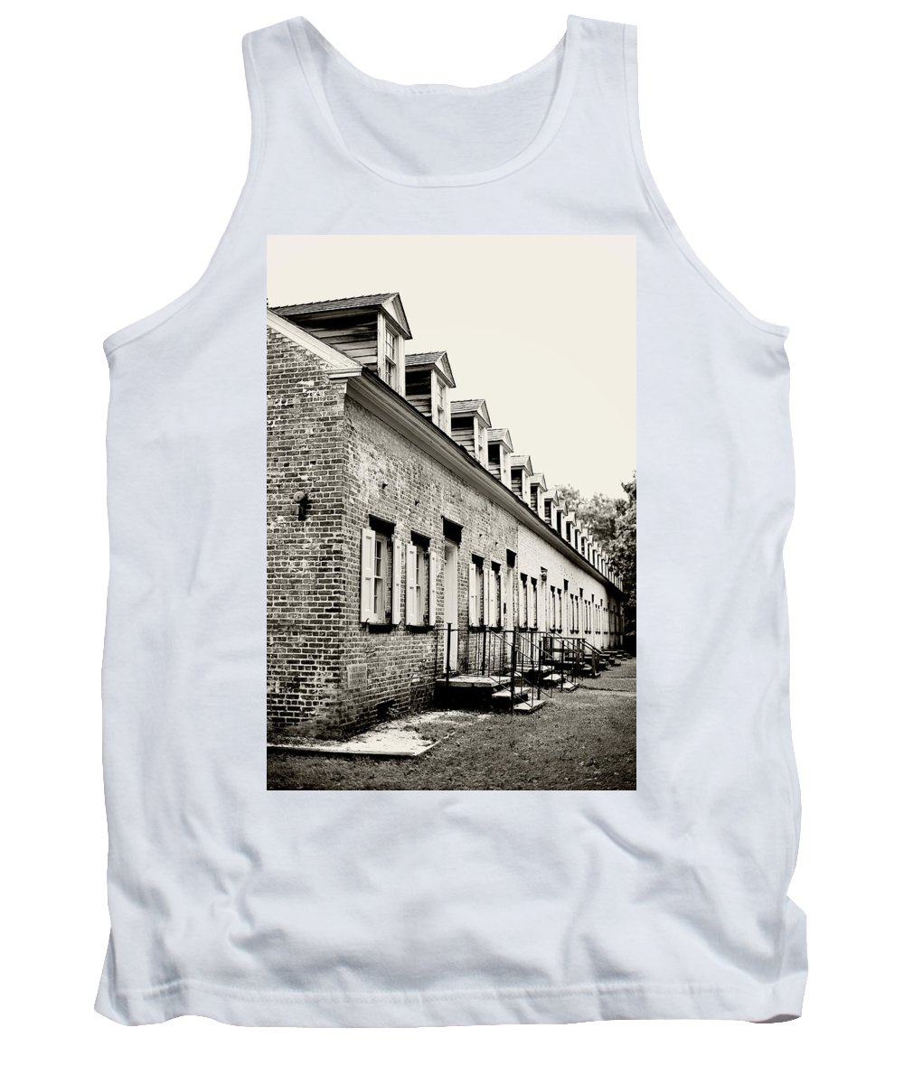 Allaire Village Tank Top featuring the photograph Historic Row Homes Allaire Village by Terry DeLuco