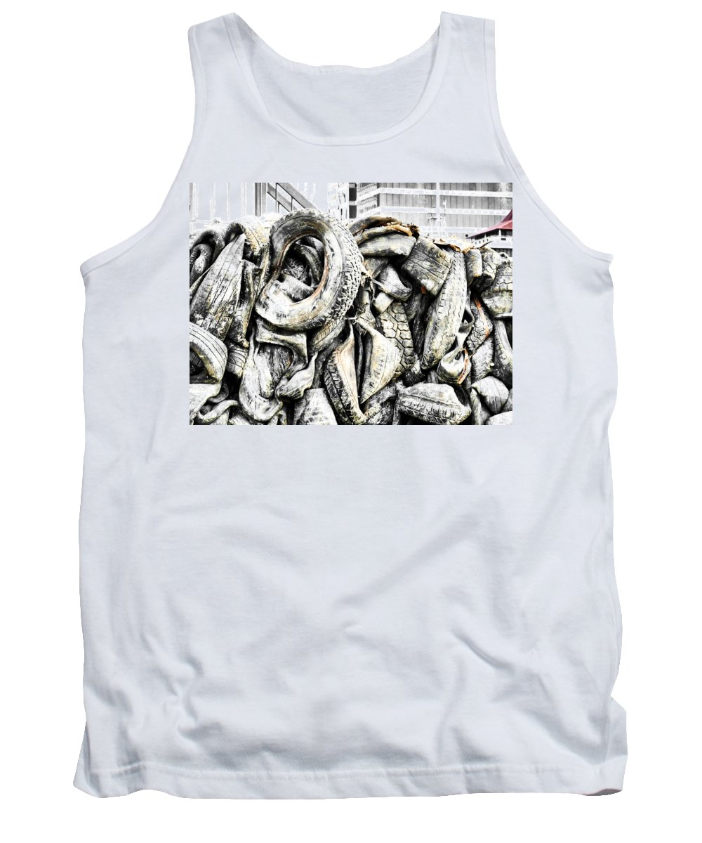 Kinetic Energy Tank Top featuring the photograph Hitting The Wall by Steve Taylor