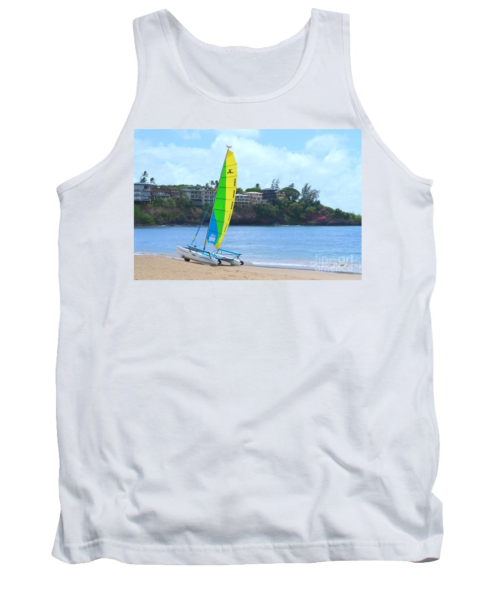Boats Tank Top featuring the photograph Hobie Cat by Mary Deal