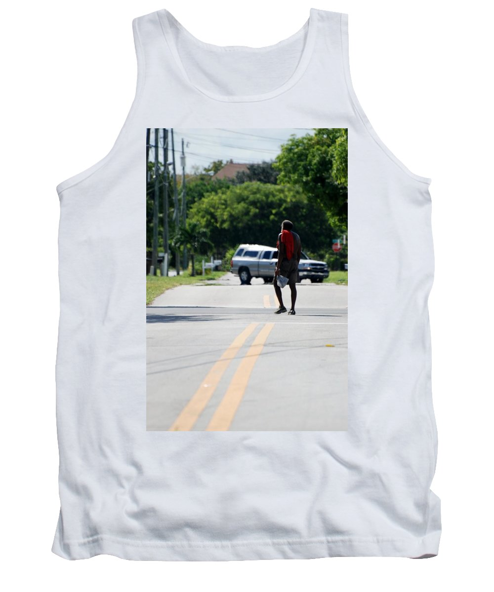Blue Tank Top featuring the photograph Homeless by Rob Hans